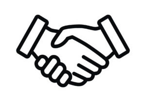 A outline of business handshake